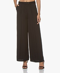 By Malene Birger Enil Crepe Viscose Pants - Black