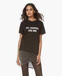 IRO Glorya Print T-Shirt - Black
