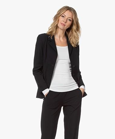 LaDress Virginie Tech Jersey Blazer - Zwart