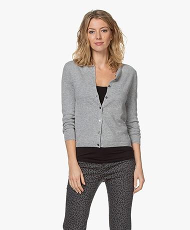 Resort Finest Lucca Basic Cashmere Cardigan - Grey
