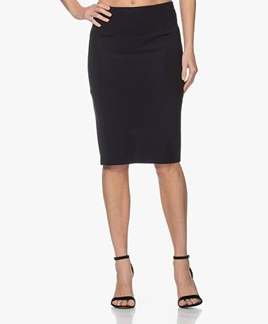 Woman by Earn Sterre Tech Jersey Pencil Skirt - Navy