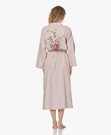 HAMMAM34 The Flower Lange Katoenen Kimono - Dusty Pink