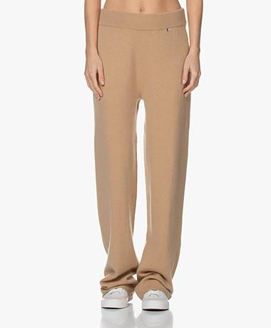 extreme cashmere N°104 Loose-Fit Cashmere Pants - Camel