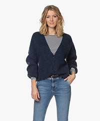 by-bar Soof Mohair Blend Buttoned Cardigan - Navy