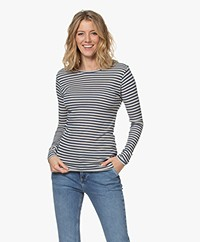 by-bar Basic Striped Long Sleeve - Indigo/Sand