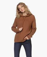 Sibin/Linnebjerg Suri Mohair Mix Hooded Sweater - Camel