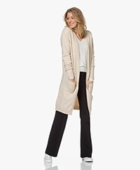 by-bar Nisa Mid Length Open Cardigan - Oyster