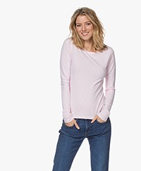 Rag & Bone The Slub Slim Longsleeve - Ultra Pink