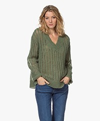 By Malene Birger Atropa Ajour Sweater - Clover Green