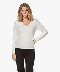 Resort Finest Via V-neck Pullover - Ecru