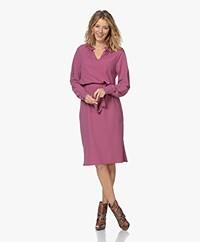 JapanTKY Kary Travel Jersey Dress with Ruffles - Violet