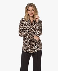 Equipment Slim Signature Gewassen Zijden Print Blouse - Natural
