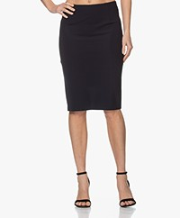 Woman by Earn Sterre Tech Jersey Pencil Skirt - Navy