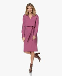JapanTKY Kary Travel Jersey Dress with Ruffles - Violet