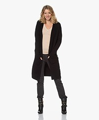 by-bar Nisa Mid Length Open Cardigan - Black