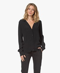 by-bar Anna Viscose Crêpe Blouse - Jet Black
