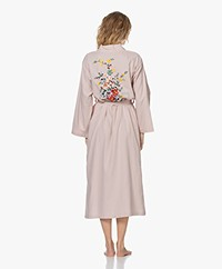 HAMMAM34 The Flower Long Cotton Kimono - Dusty Pink