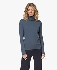Filippa K Cashmere Roller Neck Sweater - Vergrijsd Blauw