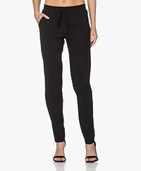 LaDress Valencia Printed Travel Jersey Pants - Black