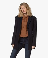 Filippa K Ancona Recycled Wool Blend Coat - Navy