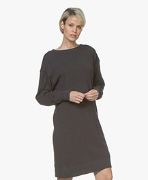 American Vintage Sonoma Katoenen Sweaterjurk - Carbon Grijs