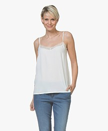 BY-BAR Isa Viscose Camisole met Kant - Off-white