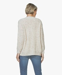 BY-BAR Lara Chunky Knit Open Cardigan - Off-white