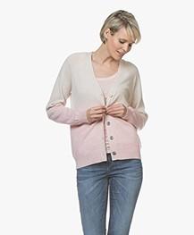 Repeat Cashmere Gradient V-Hals Vest - Beige/Roze