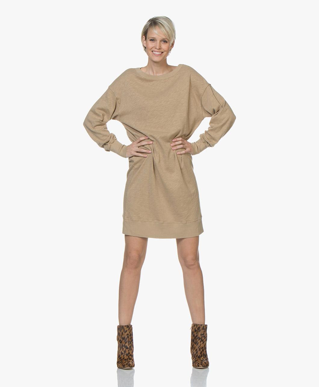 Immagine di American Vintage Dress Sonoma Cotton Sweater in Brown Sugar
