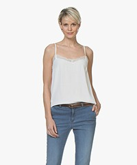 BY-BAR Isa Viscose Camisole with Lace - Off-white