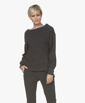 American Vintage Sonoma Katoenen Sweatshirt - Charcoal Mêlee