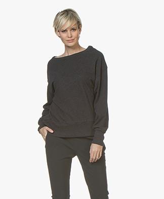 American Vintage Sonoma Cotton Sweatshirt - Charcoal Melange