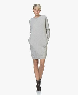 BY-BAR Babbe Cotton Sweater Dress - Grey Melange