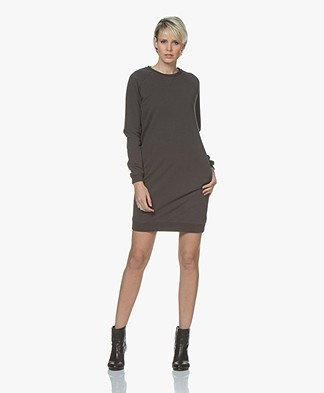 BY-BAR Babbe Katoenen Sweaterjurk - Phantom Black