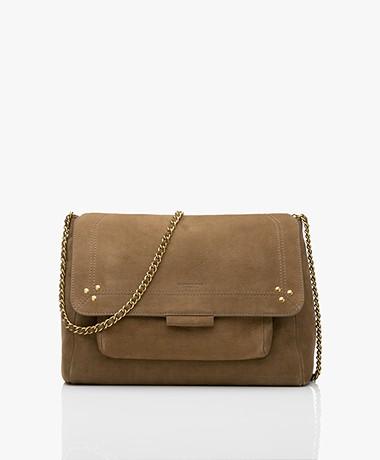 Jerome Dreyfuss Lulu L Nubuck Shoulder/Cross-body Bag - Khaki/Vintage Gold