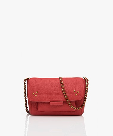 Jerome Dreyfuss Lulu S Leather Shoulder/Cross-body Bag - Red/Vintage Gold