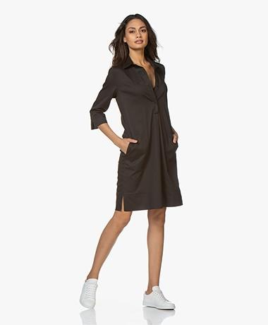 LaSalle Cotton Shirt Dress - Black