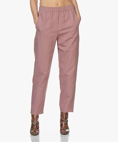 forte_forte Loose-fit Linen Blend Pants - Malva