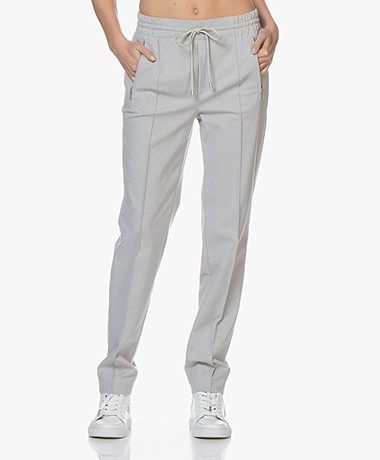 Drykorn Blanked Ponte Jersey Pants - Light Grey