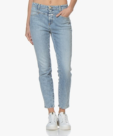 Closed Skinny Pusher Cropped  Jeans - Light Blue