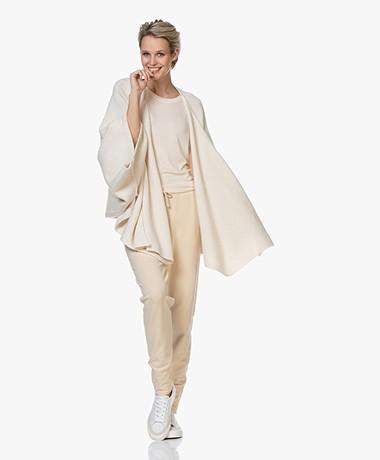 Filippa K Norie Cashmere Blend Scarf Cardigan - Almond White