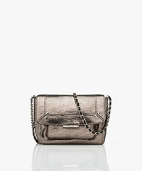 Jerome Dreyfuss Lulu S Leather Shoulder/Cross-body Bag - Lamé Champagne