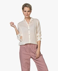 forte_forte Voile Shirt with Jewel Buttons - Shell
