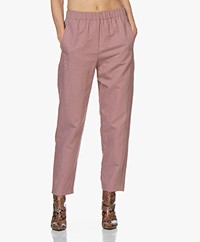 forte_forte Loose-fit Linen Blend Pants - Malva