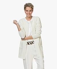 Sibin/Linnebjerg Mary Short Cardigan in Merino Blend - Off-white