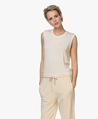ba&sh Milio Soft Touch Jersey Tank Top - Foam