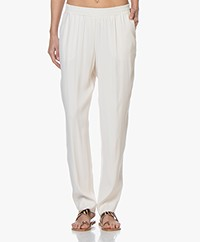 LaSalle Crepe Loose-fit Pants - Panna