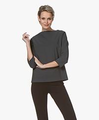 studio .ruig Thekla Tech Jersey Boothals T-shirt - Antraciet
