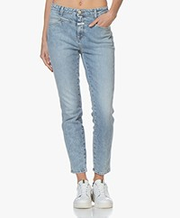 Closed Skinny Pusher Cropped Jeans - Lichtblauw