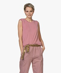 ba&sh Milio Soft Touch Jersey Tank Top - Pink Blush